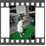 Marilyn-Monroe-Celebrity-Impersonator-Lookalike at Hollywood and Highland Mall for PGA Northern Trust