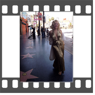 Marilyn Monroe Look Alike on the Hollywood Walk of Fame