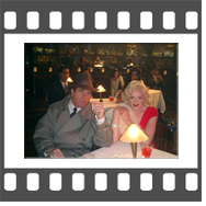 Marilyn-Monroe-Celebrity-Impersonator-Lookalike and Humphrey Bogart